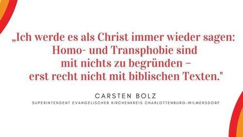 Mitteilung des Superintendenten zur Homo- und Transphobie