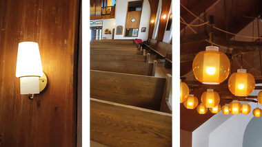 Buy used Pews, Chandeliers, and Wall Sconces