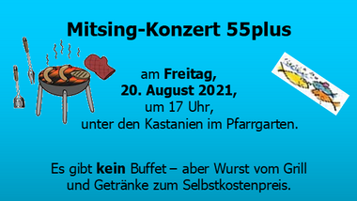 Mitsing-Konzert 55 plus
