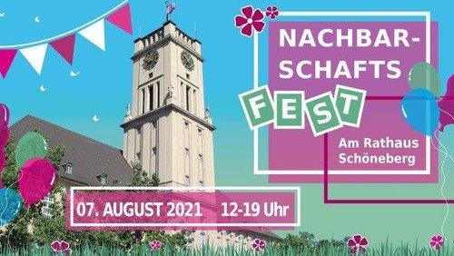 Nachbarschaftsfest vor dem Rathaus Schöneberg