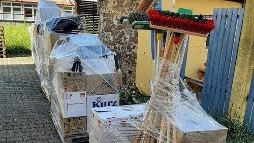 Hilfstransport für Betroffene der Flutkatastrophe aus Neureut