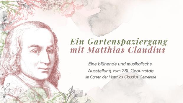Gartenausstellung zum 281. Geburtstag von Matthias Claudius