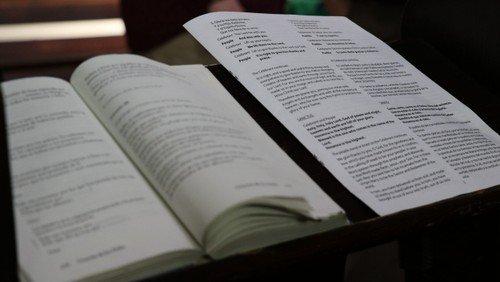 August 25 Evening Prayer bulletin