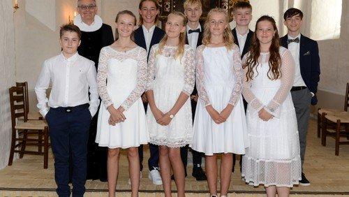 Konfirmander i Øster Hurup 2020 (afholdt i Als Kirke)