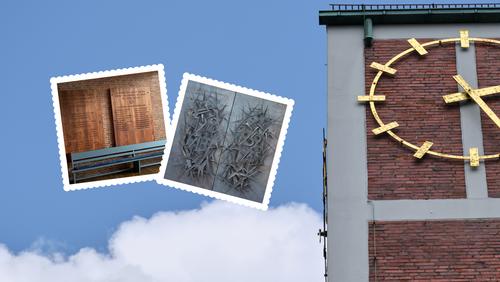 Steinquader, Schmiedekunst und Holztafeln
