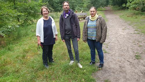 Wald, Wanderkirche und Bibelgarten – Tag 1 auf dem Pilgerweg