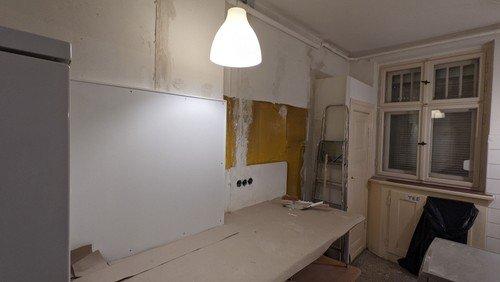 Küchenrenovierung für das Nachtcafé