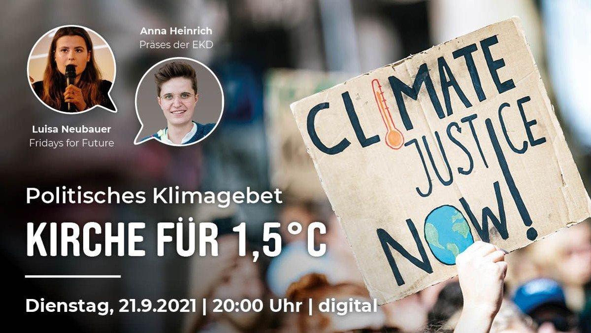 """Kirche 1,5 °C"" - Digitales Klimagebet"