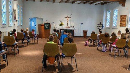 Die Vorschulkinder der Kita-Dreieinigkeit besuchen die Philipp-Melanchthon Kapelle