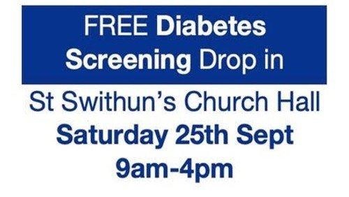 Free diabetes screening drop-in