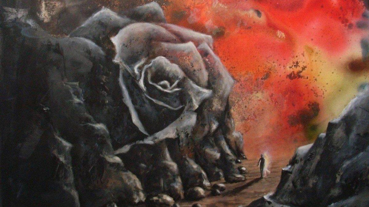 """Se maleri og prædiken om """"Dødsskyggens dal"""" af kunstner Helle Noer"""
