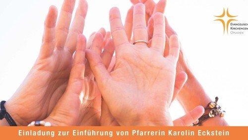Herzliche Einladung zum Einführungsgottesdienst von Pfarrerin Karolin Eckstein