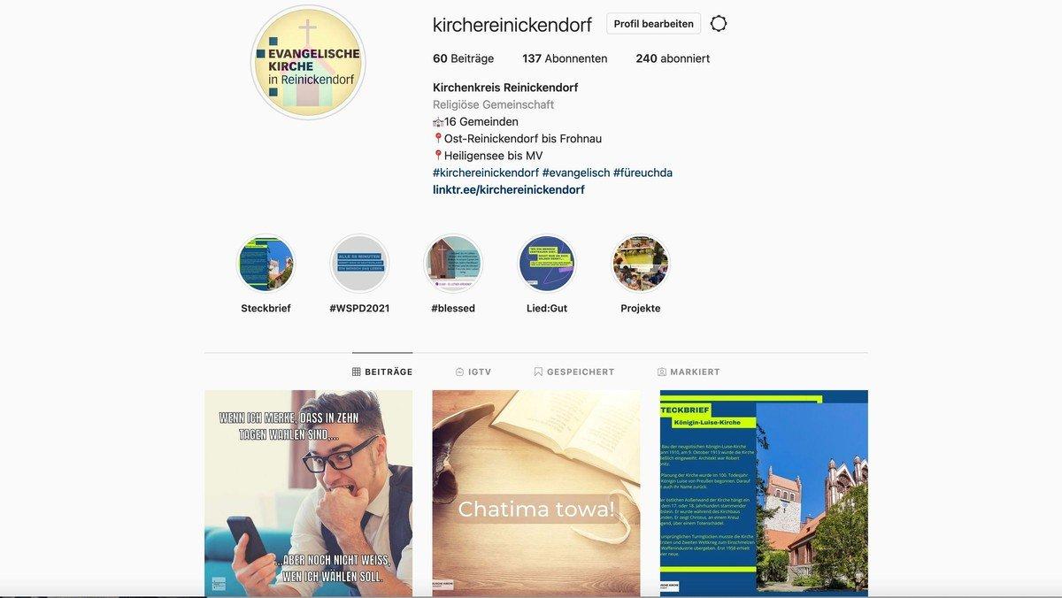 @kirchereinickendorf: Wir sind jetzt auch auf Instagram!