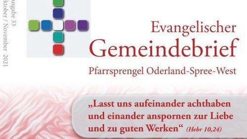 33. Evangelischer Gemeindebrief