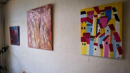 Niels Jørgen Hansen udstiller sine malerier