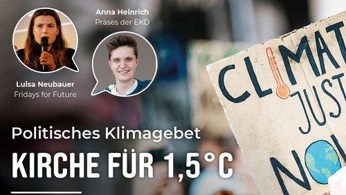 Zum Nachschauen: Digitales Klimagebet mit Luisa Neubauer
