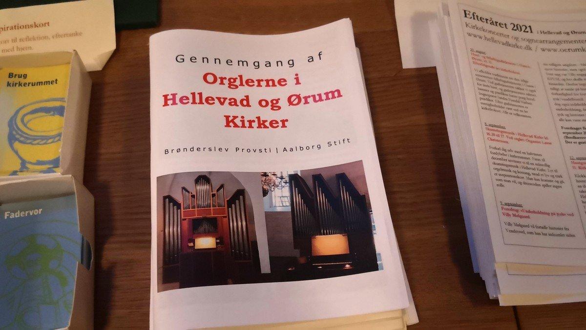 Ny bog om orglerne i Hellevad og Ørum Kirker