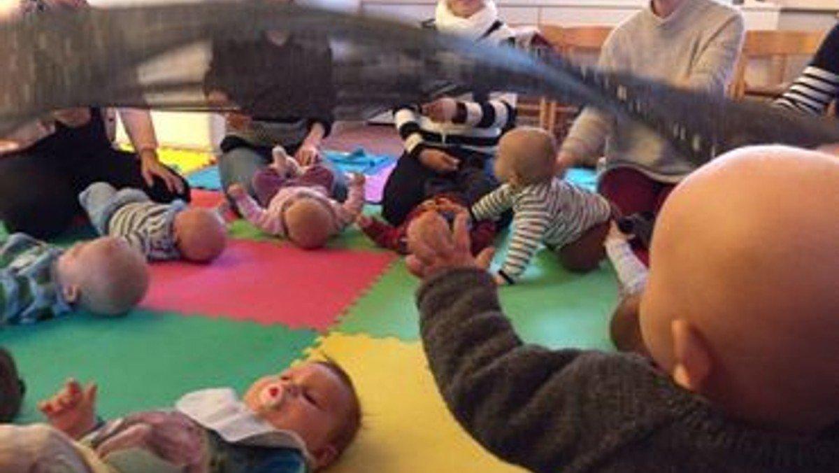 Tilmelding til babysalmesang i uge 43 i Timring kirke