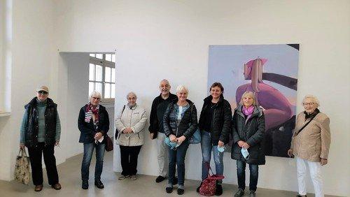 Senior:innen vom Donnerstagskaffee  zu Besuch im Kunsthaus