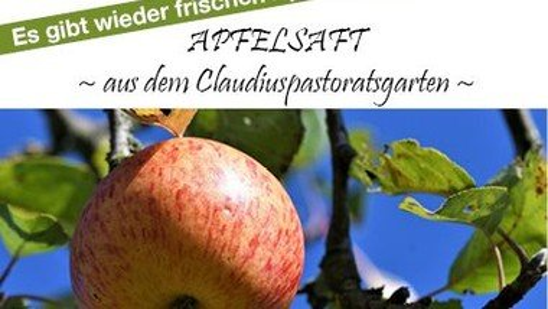 Frischer Apfelsaft aus dem Pastoratsgarten