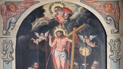 Restaurierungsarbeiten an barocker Bilderdecke in Brumbyer Kirche vollendet