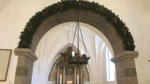 Julegudstjeneste i Sdr. Tranders v. Line Vesterlund