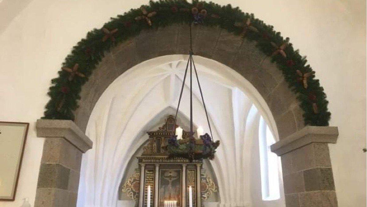 Julegudstjeneste i Sdr. Tranders v. Mette Tved