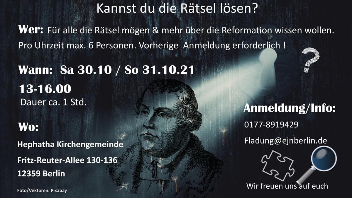 Escape-Room-Spiel zum Reformationstag