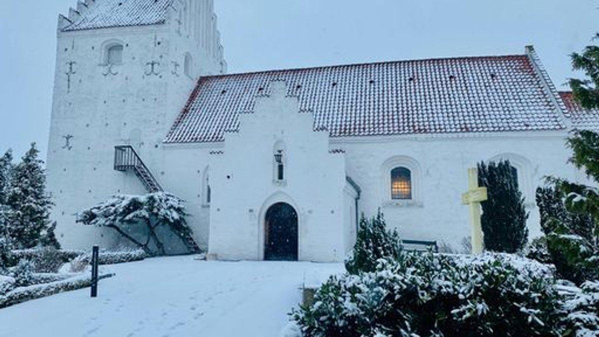 Juledag i Ågerup Kirke v. Sophie Juel