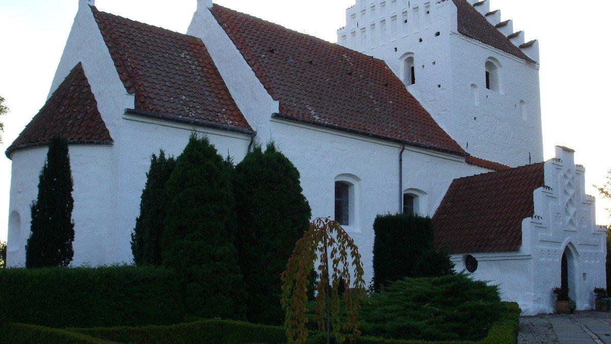 Gudstjeneste i Grandløse Kirke v. Sophie Juel
