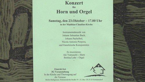 Konzert für Horn und Orgel in Matthias-Claudius