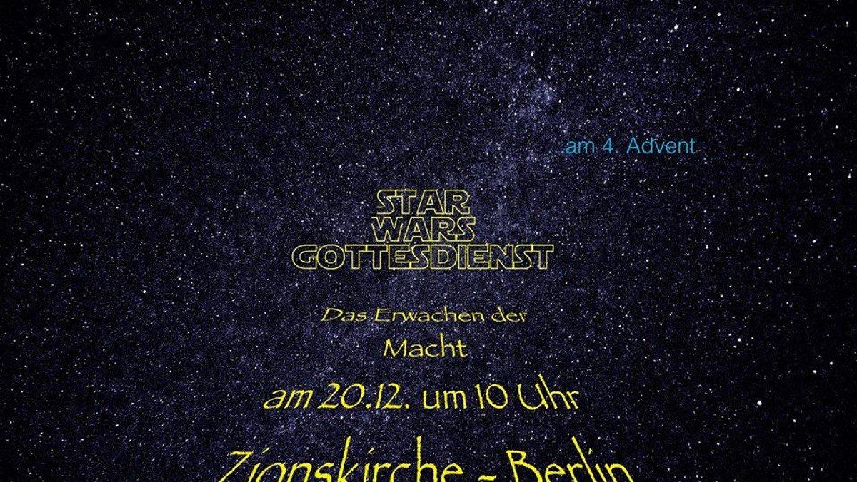 Star Wars Gottesdienst in der Berliner Zionskirche