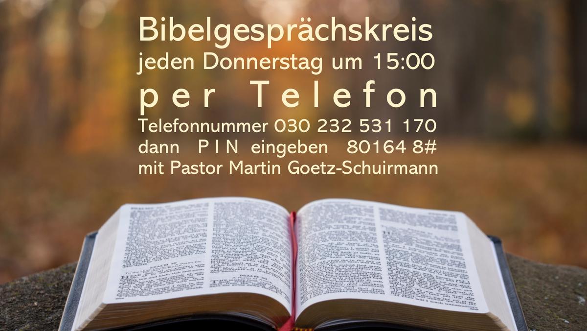 Bibelgesprächskreis per Telefon