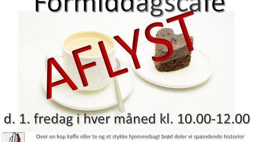 AFLYST!!! Fredagscafé