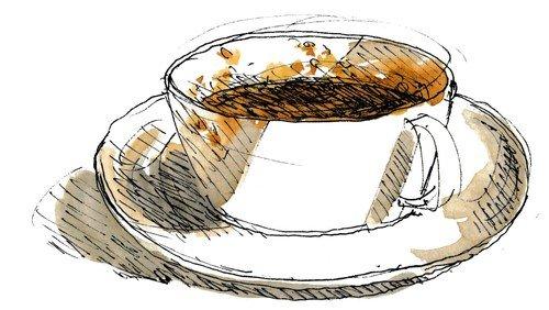 Café Marie, besøg af visesanger, Tim Hansen.
