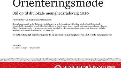 Orienteringsmøde om Menighedsrådsvalg 2020