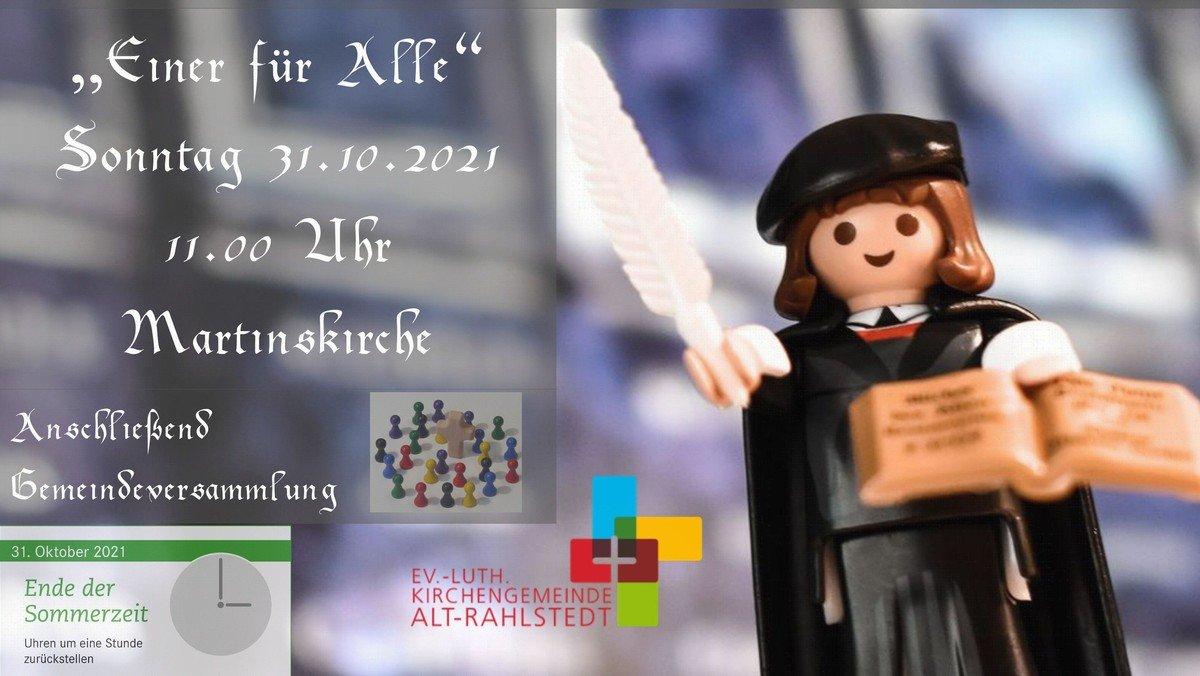 """Gottesdienst am Reformationstag """"Einer für alle"""""""