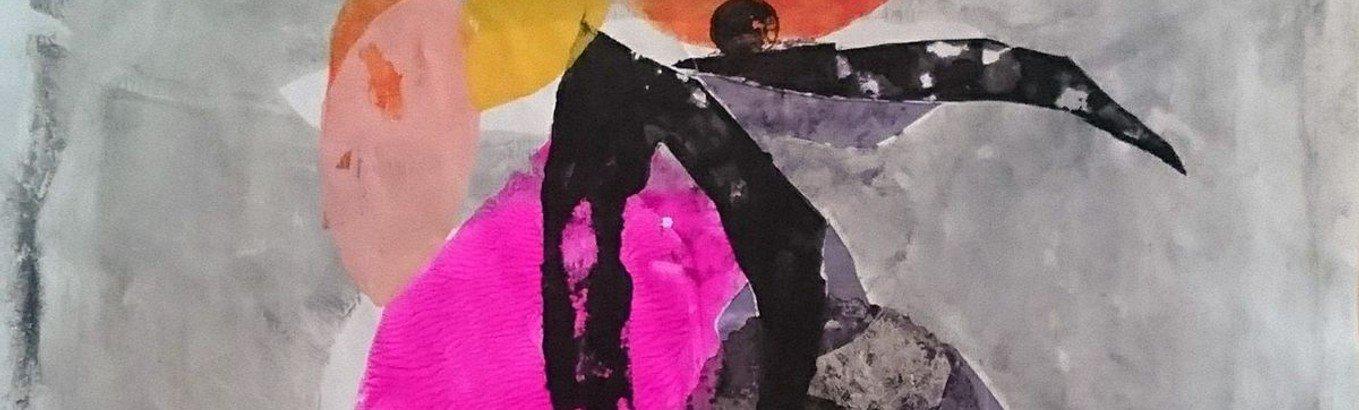 """""""Inside out – von Eindrücken zum Ausdruck"""". Abstrakte (Druck-) Arbeiten in Acryl von Judith Steinmann"""