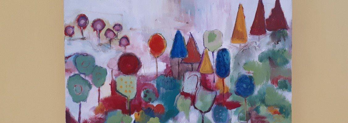 Udstilling med malerier af Sanne Grunnet 28. april til 1. juni 2019