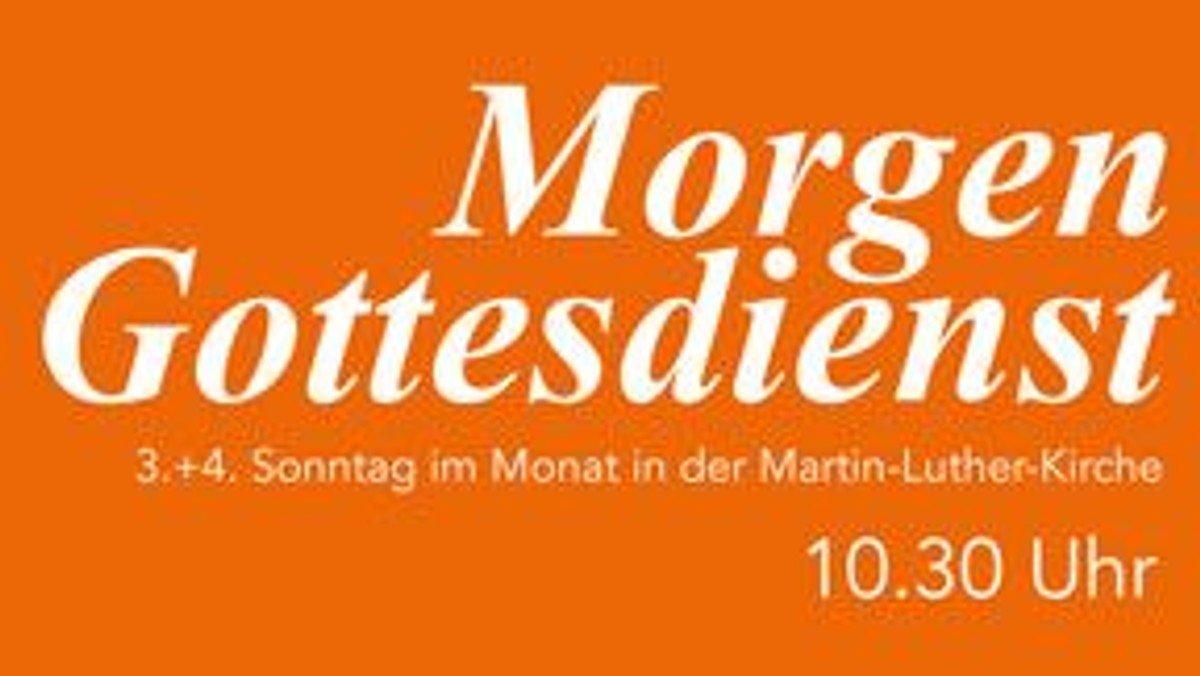 """Morgengottesdienst """"Regeln und Segen"""""""