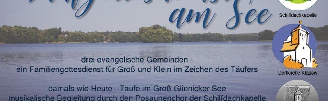 Gottesdienst Tauf- und Familien-GoDi  am Glienicker See - Bootshaus