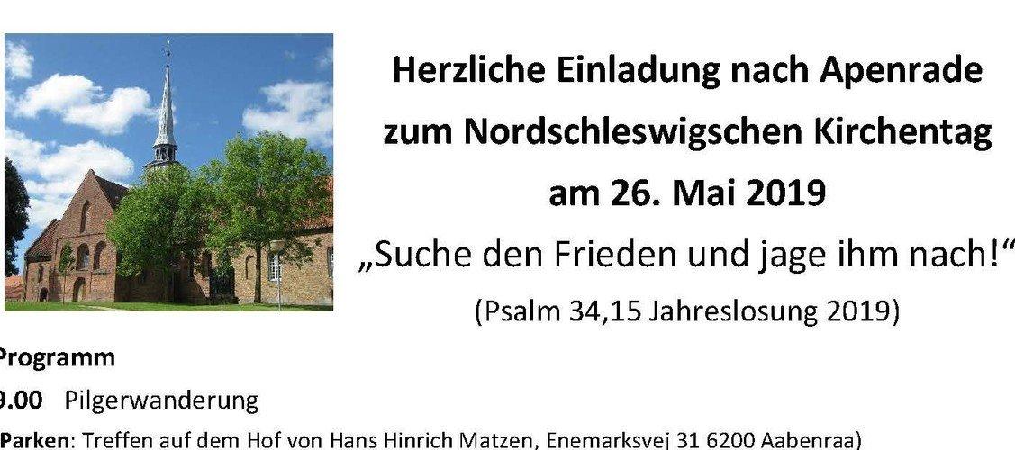 Herzliche Einladung nach Apenrade zum Nordschleswigschen Kirchentag