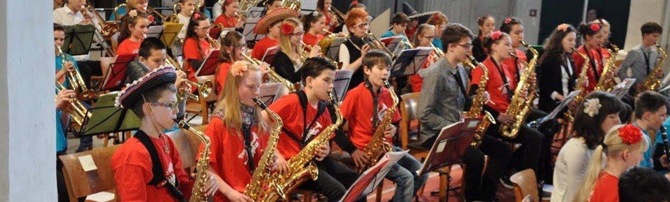 Konzert mit den Bläserklassen der Erich Kästner Grundschule Cottbus