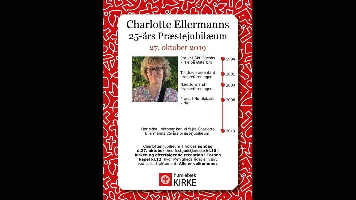 Gudstjeneste, 25 års Jubilæum for Sognepræst Charlotte Ellermann