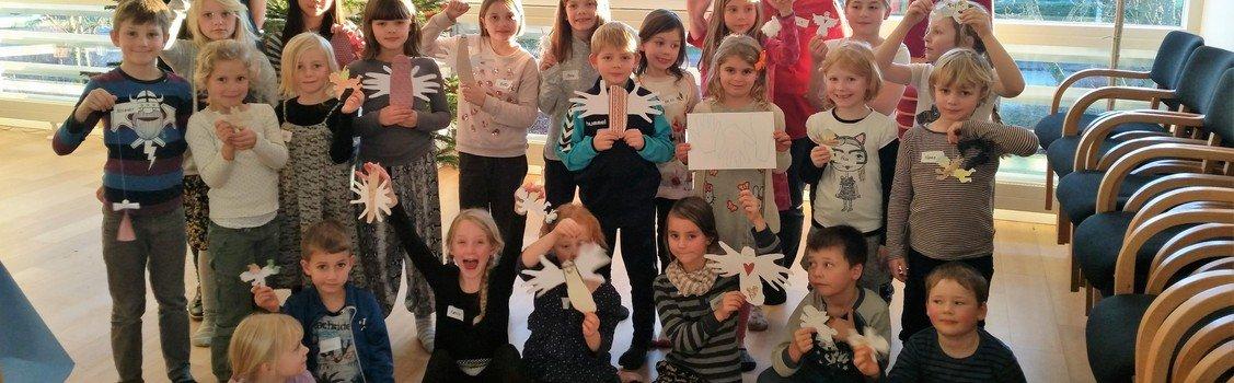 Juleværksted for skolebørn i Sognegården