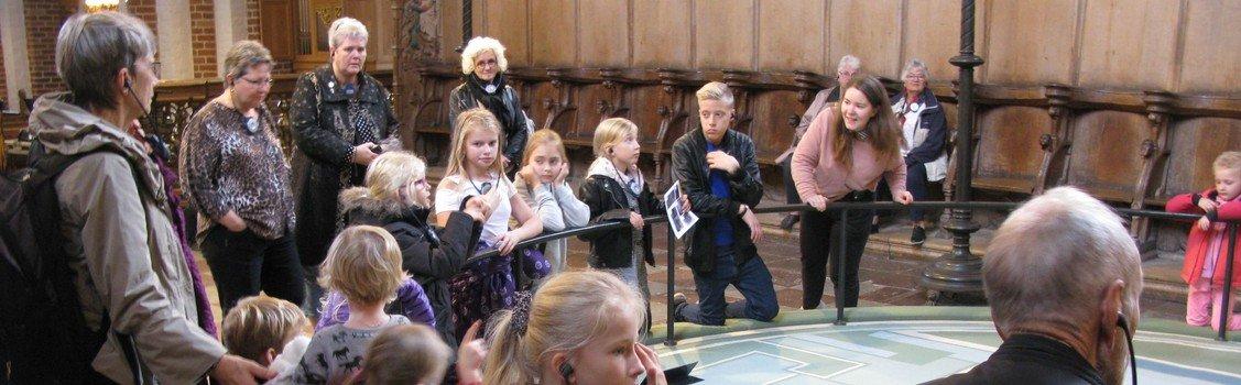 Tur for børn og bedsteforældre til Sct. Bendts Kirke i Ringsted
