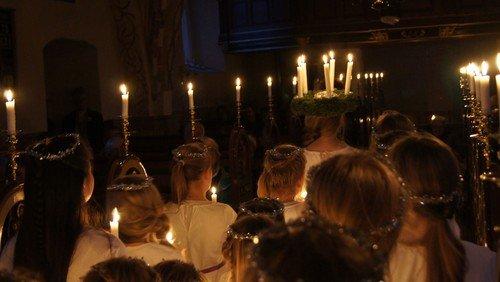 Luciagudstjeneste Strøby