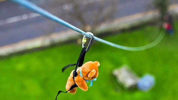 Teddy Bears Zip Wire - raising funds for Help for Heroes