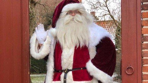 Julemanden kommer forbi Præstegården