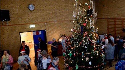Juletræsfest i Forsamlingshuset